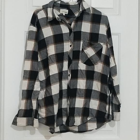 Aritzia Wilfred Free Plaid Oversize Flannel Shirt